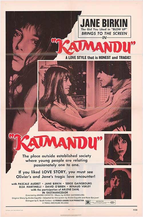 Katmandú (cartel en inglés)