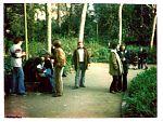 La basca del Turo Parc, Los Rockeros de la Vall d'Hebron, entre ells Coke Masabeu de Rock Fumeta, Luigi i Marc