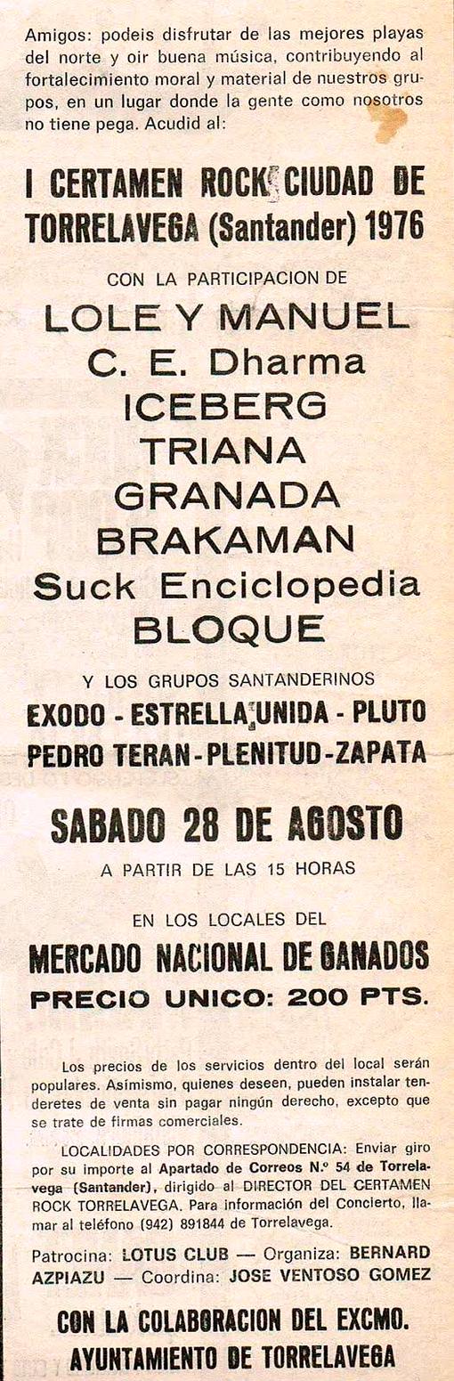 Anuncio en prensa Torrelavega 76