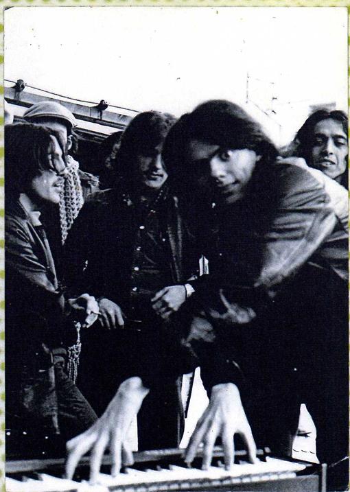 Aduana de Andorra. Un rodie, Ángel, Jordi y Manolo ' 76