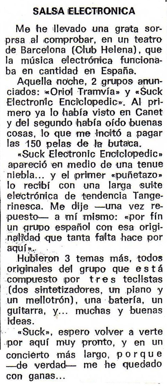 DISCO EXPRES     SUCK E.E. '76  TEATRO CLUB HELENA