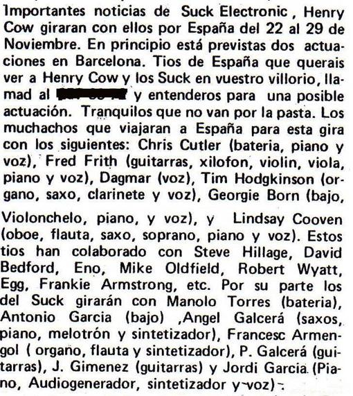 Reseña firmada por Jordi Tardà en Disco Expres
