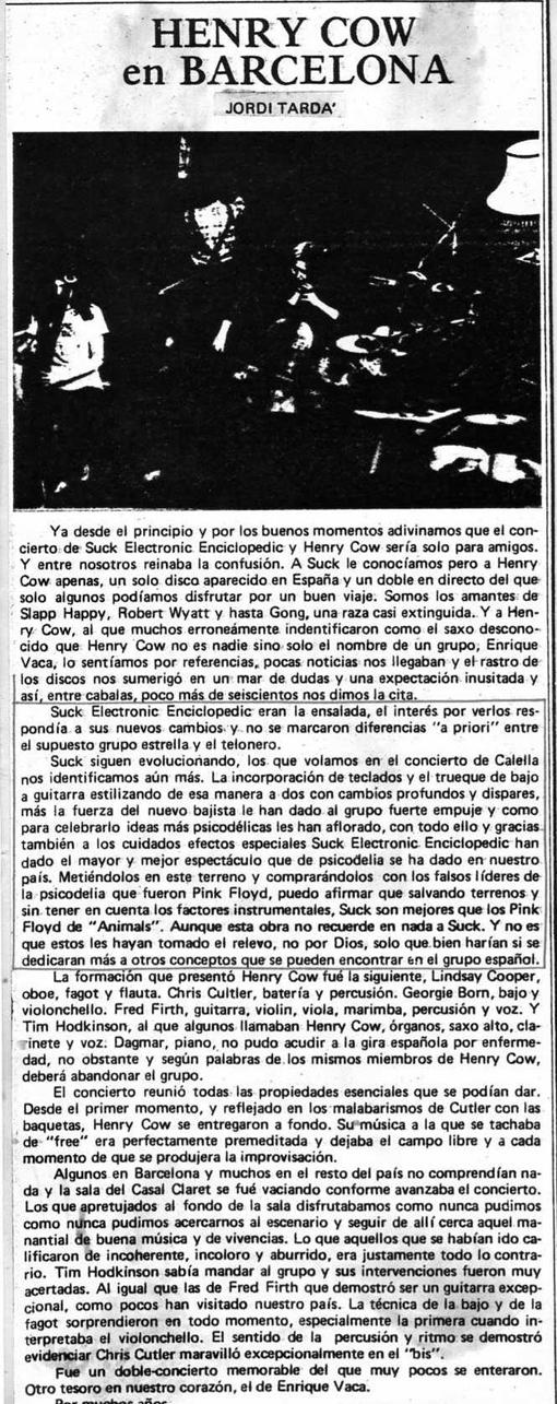 Reseña de Jordi Tardà para Disco Expres