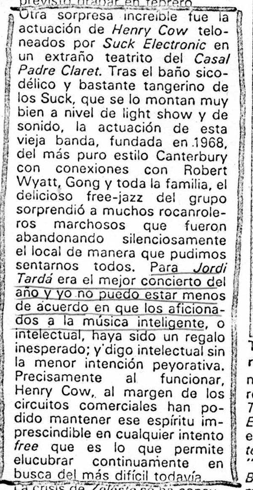 Critica de Jose Mª Martí en Vibraciones