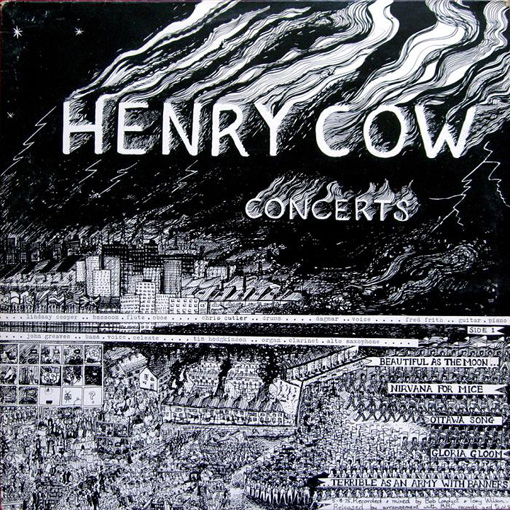 Henry Cow Concerts (portada de Maggie Thomas)