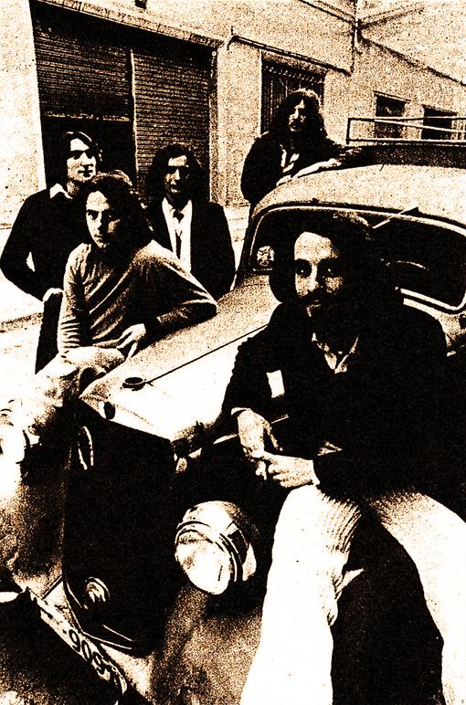 CREMA GALILEA marzo'78 (de dcha a izq) _ Lluís Fuster, Beni Simón, Juan Zabala, Yago Comte, Joan Rectoret