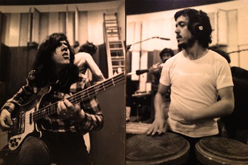 Pepe Rodriguez y Manolo Torres en  Estudios Sonitec grabando para Albert Giménez (1979)